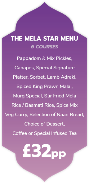 The Mela Star Set Menu